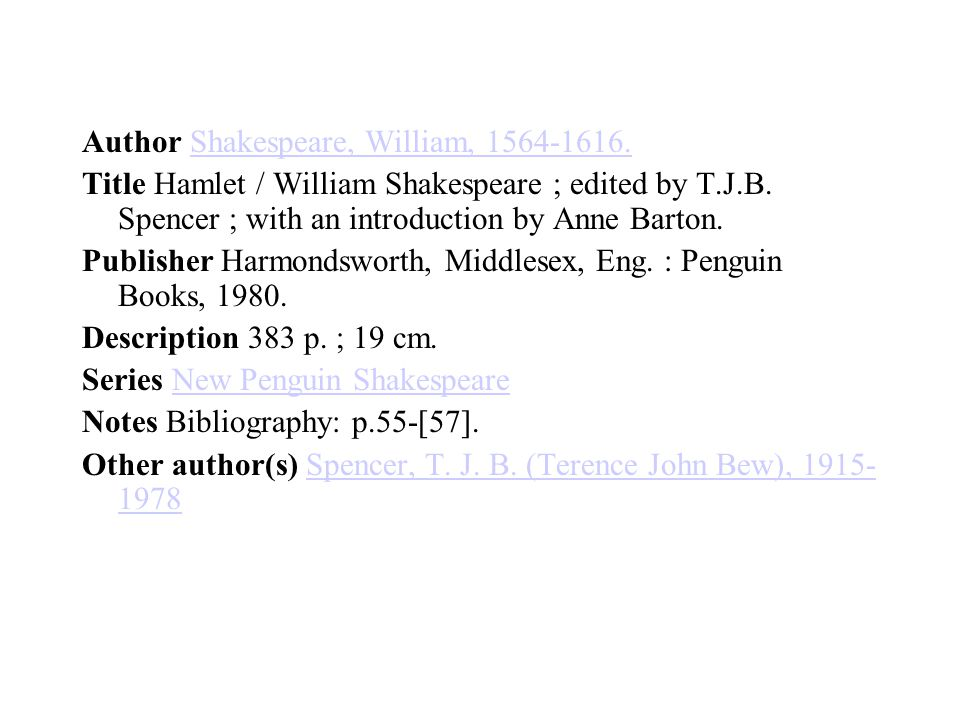 Author Shakespeare, William, 1564-1616.Shakespeare, William, 1564-1616.