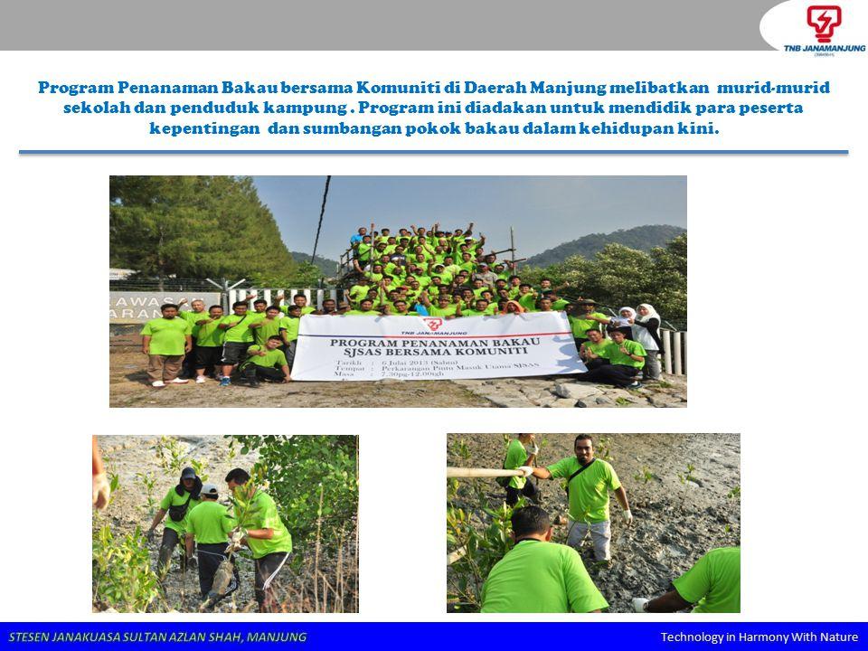 Program Penanaman Bakau bersama Komuniti di Daerah Manjung melibatkan murid-murid sekolah dan penduduk kampung. Program ini diadakan untuk mendidik pa