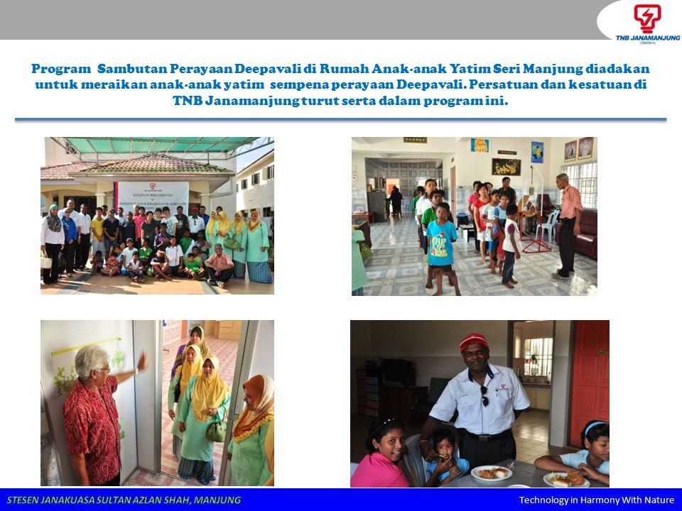 Program Sambutan Perayaan Deepavali di Rumah Anak-anak Yatim Seri Manjung diadakan untuk meraikan anak-anak yatim sempena perayaan Deepavali. Persatua