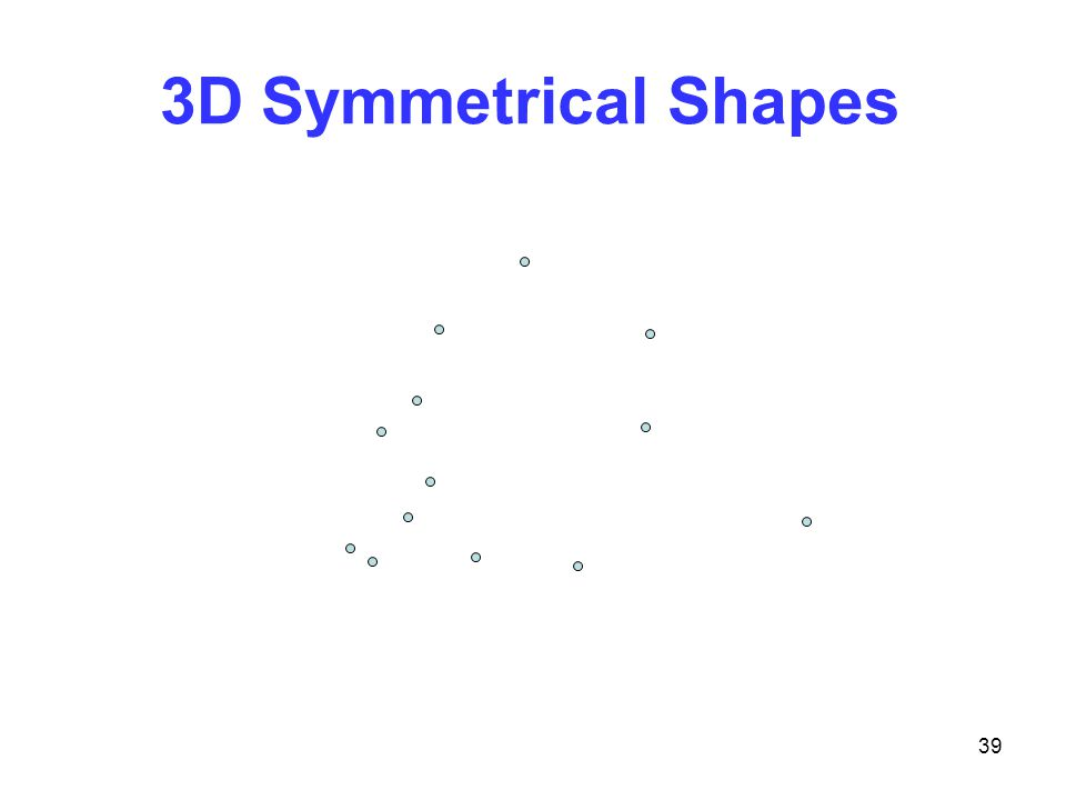 39 3D Symmetrical Shapes