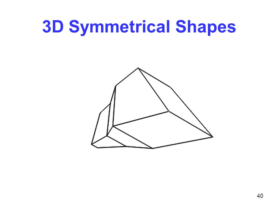 40 3D Symmetrical Shapes