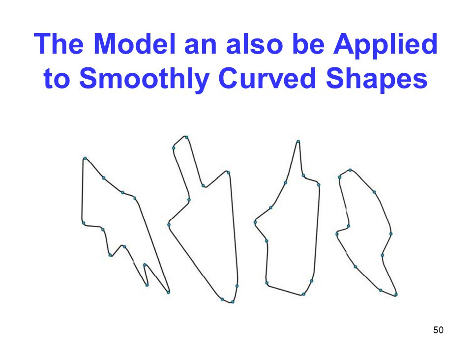 50 The Model an also be Applied to Smoothly Curved Shapes