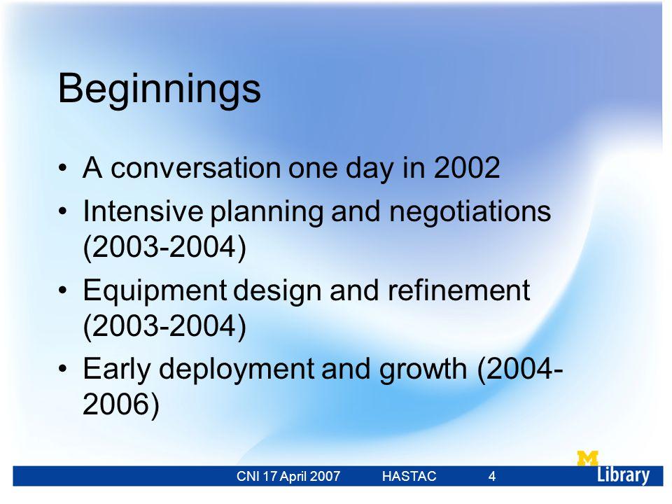 CNI 17 April 2007 HASTAC 23 Feb 2007 55 Two Futures