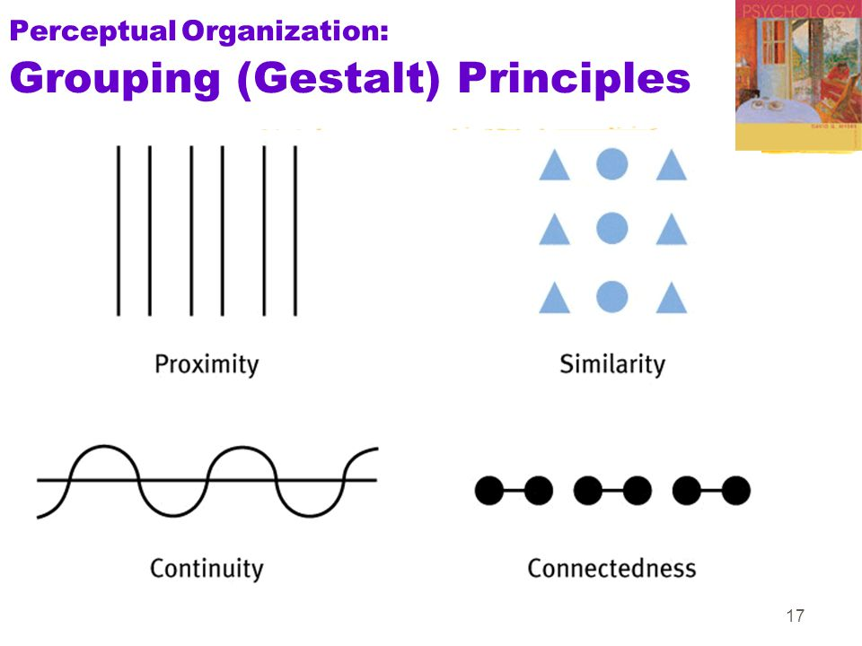 17 PerceptualOrganization: Grouping (Gestalt) Principles