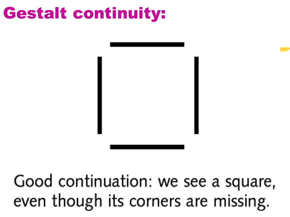 23 Gestalt continuity:
