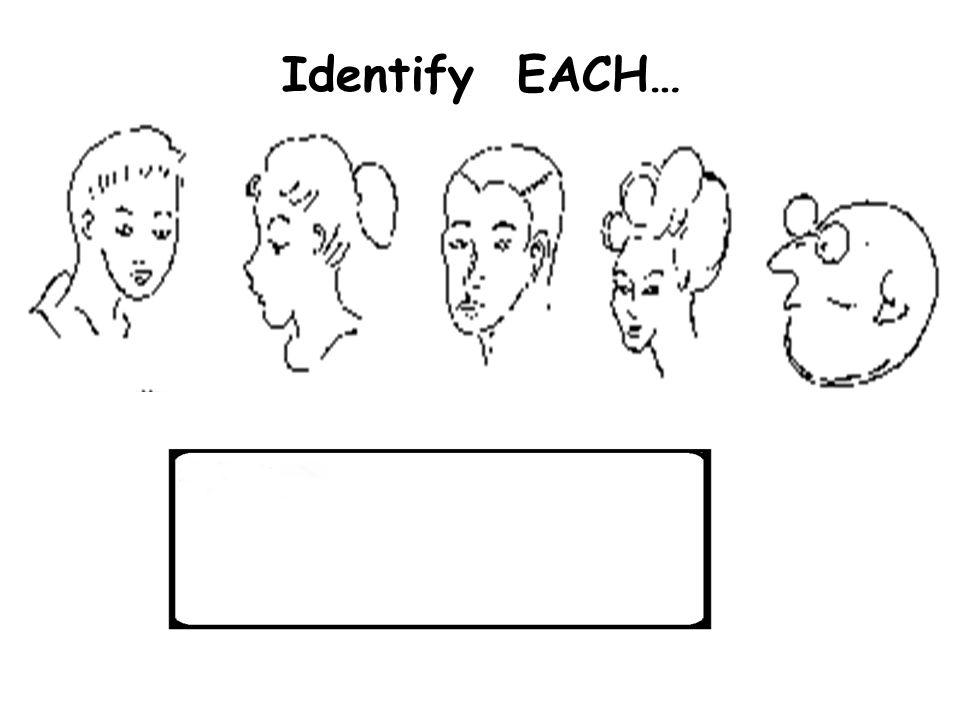 58 Identify EACH…