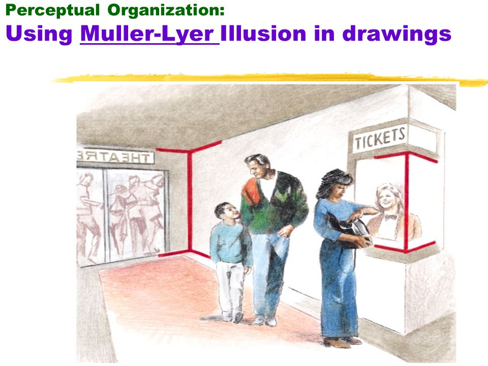 57 What we see or know before hand influences what we see next…Famous experiment for Perceptual Set: Group 1: Shown drawings of various animals Group 2: Shown drawings of human faces Control group: Shown no pictures beforehand.