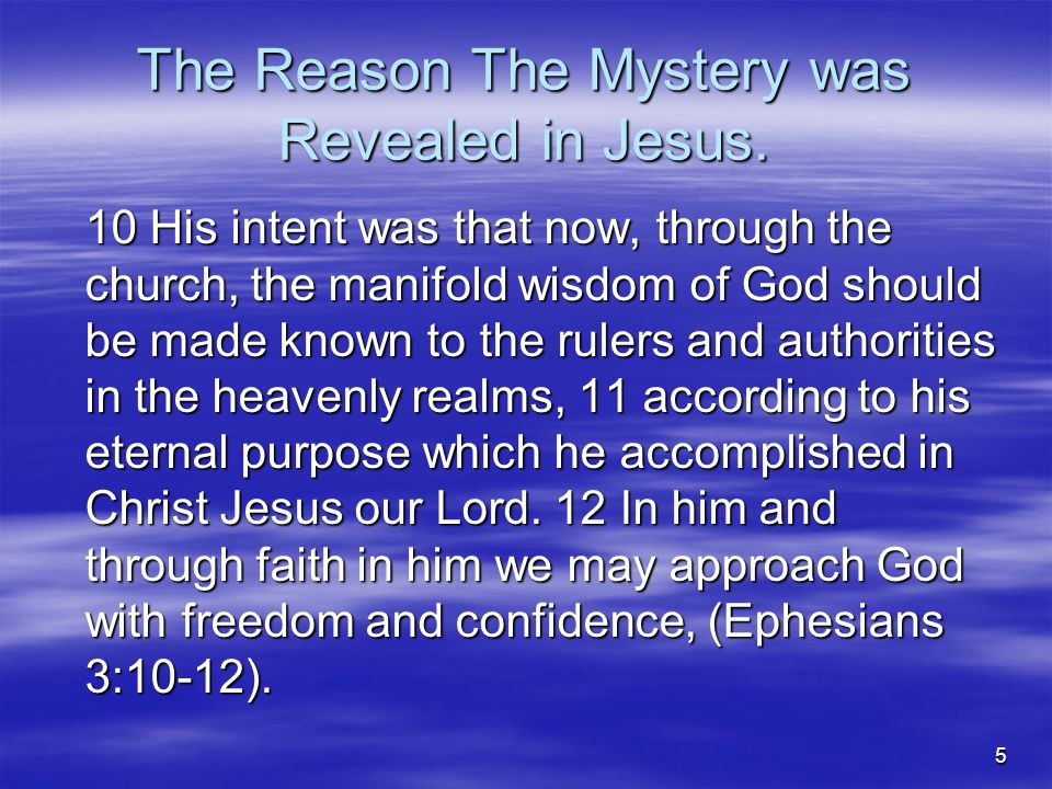 26 JESUS FOCUSED  The Focal and Pivotal Point Of God's Revealed Word, The Bible, To Man Is:  1.