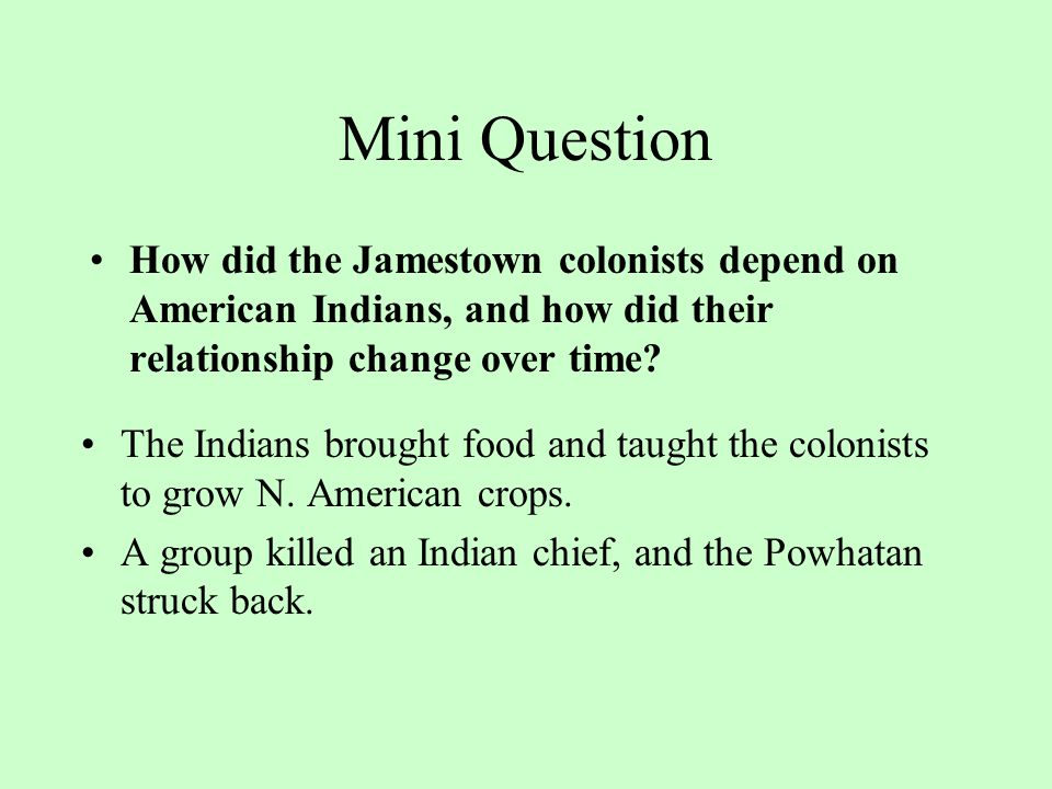 Mini Question Why were people in England interested in founding or joining a colony in America.