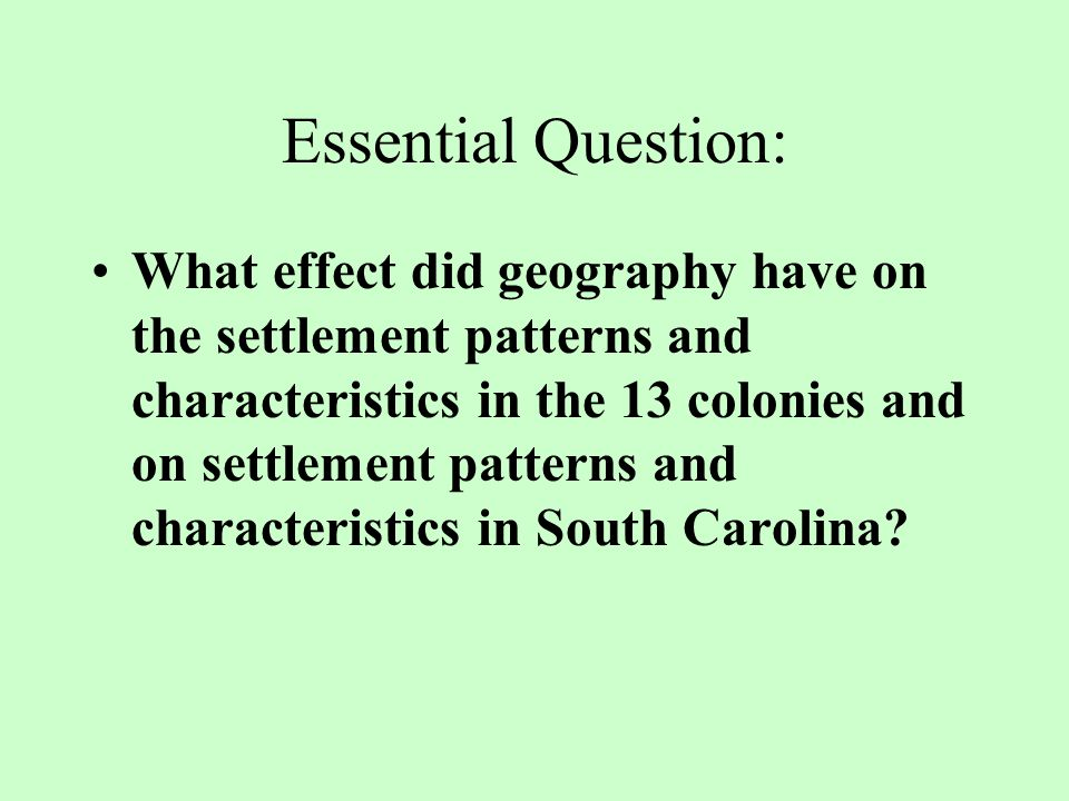 Mini Question How did the middle colonies develop.