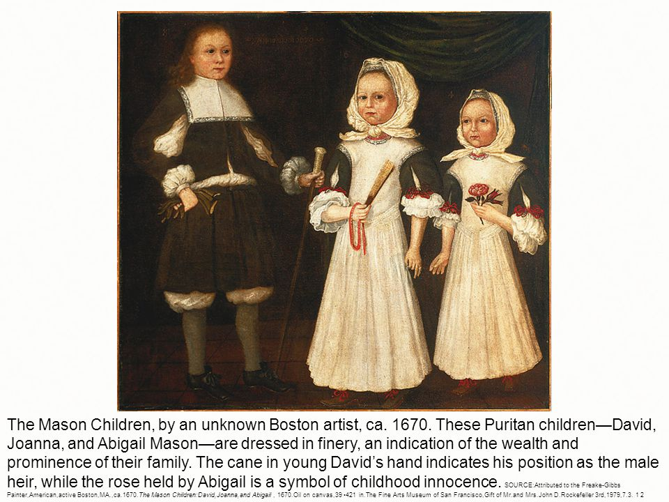 The Mason Children, by an unknown Boston artist, ca.