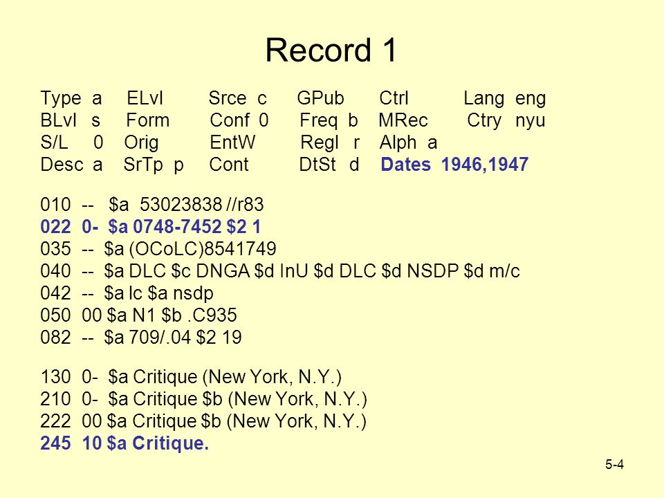 5-25 How Authoritative is the Record.