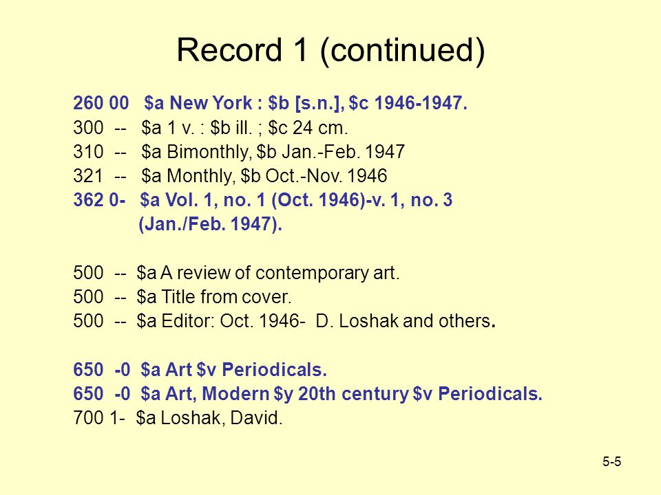 5-26 How Authoritative is the Record.