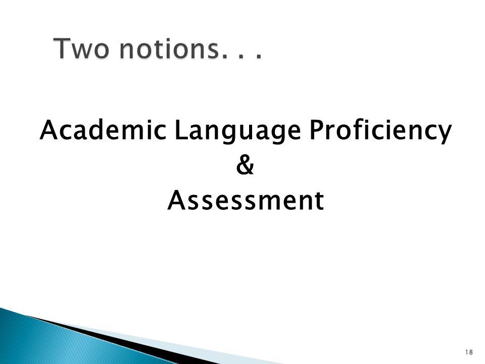 18 Academic Language Proficiency & Assessment