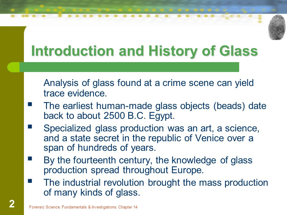 Forensic Science: Fundamentals & Investigations, Chapter 14 23 Refractive Index When a beam of light moves from one medium into another, its speed changes.