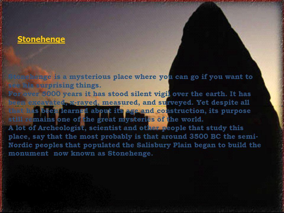 Why Stonehenge is build.