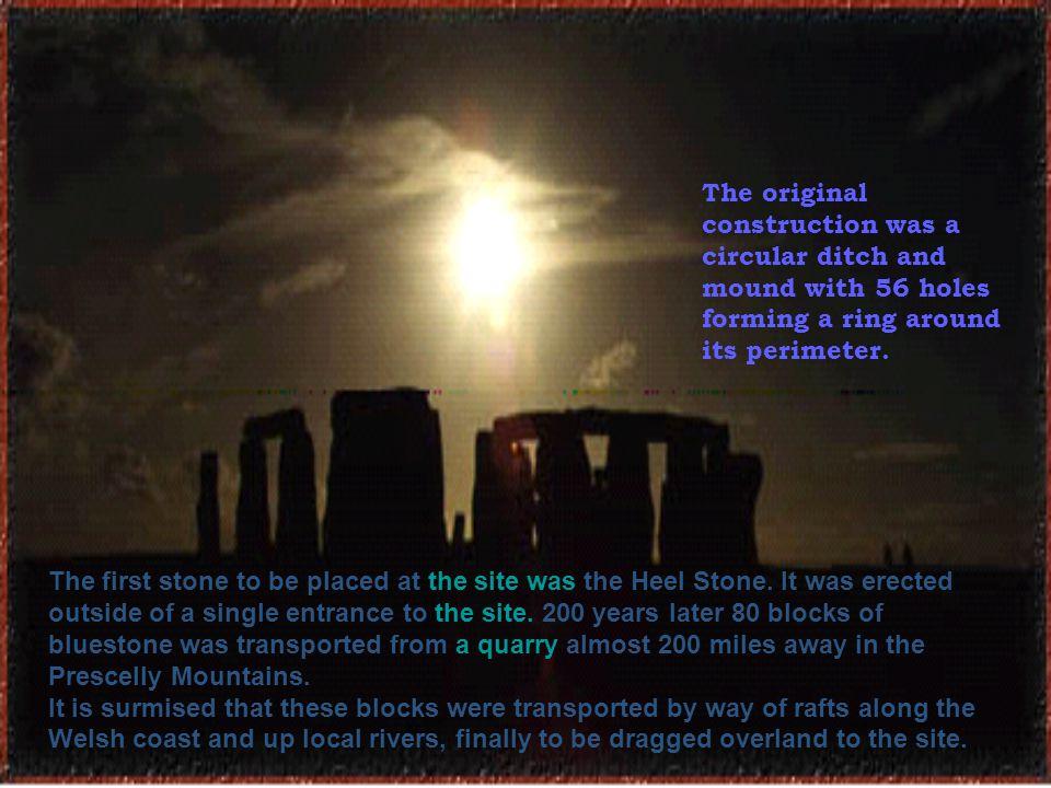 Within this circle stood five trilithons of dressed sarsen stone arranged in a horseshoe shape.