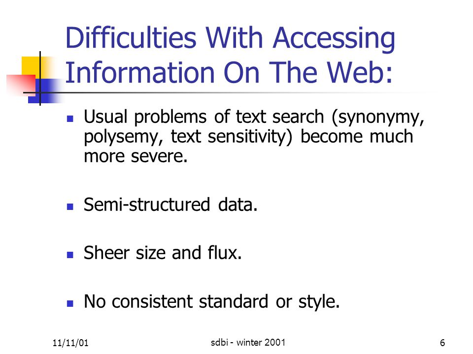 11/11/01sdbi - winter 200157 Interesting page include links to others interesting pages.