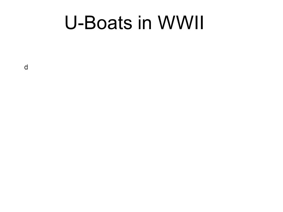 U-Boats in WWII d