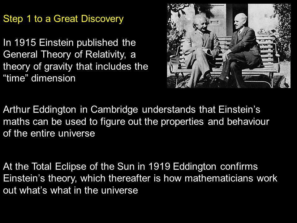 13 Einstein s Theory of General Relativity In 1916, Albert Einstein published his Theory of General Relativity.