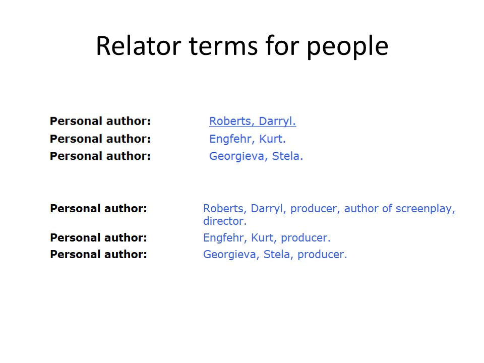 Relator terms for people