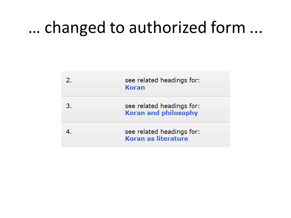 … changed to authorized form...