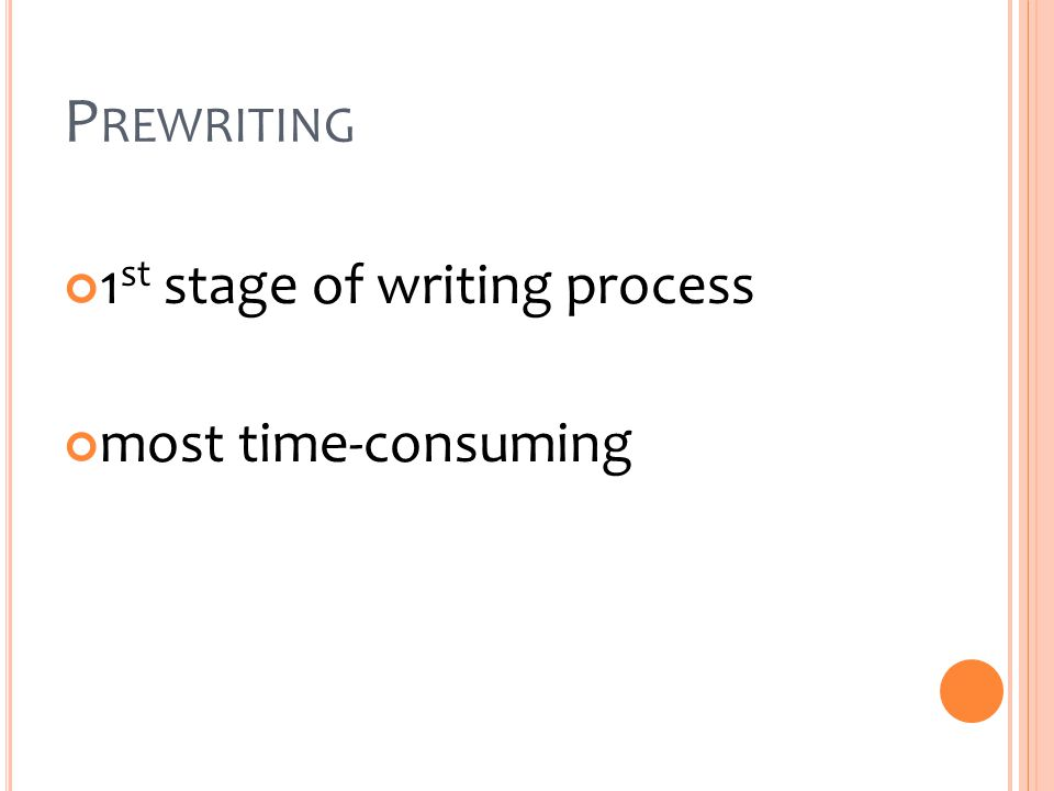 P REWRITING 1 st stage of writing process most time-consuming