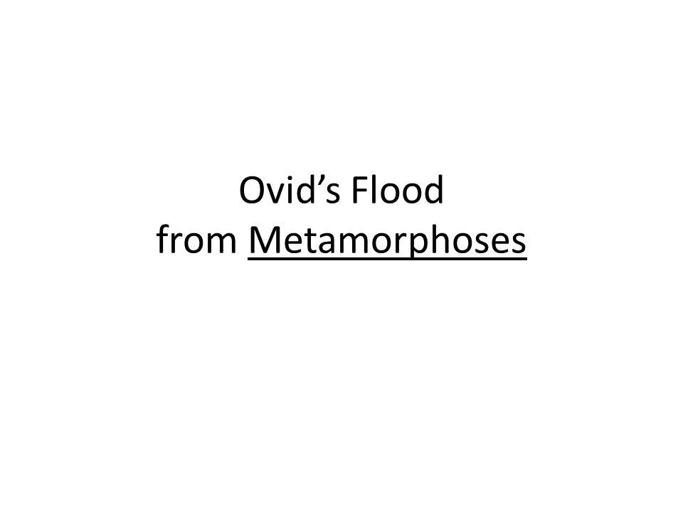 Ovid's Flood from Metamorphoses