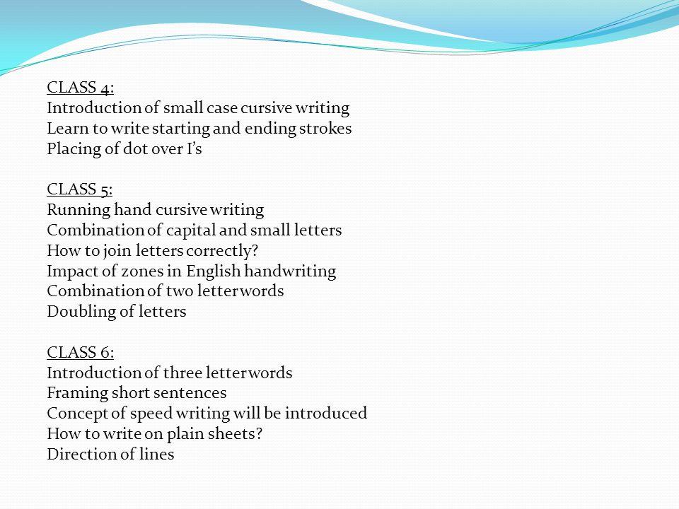CLASS 7: How to write long sentences.
