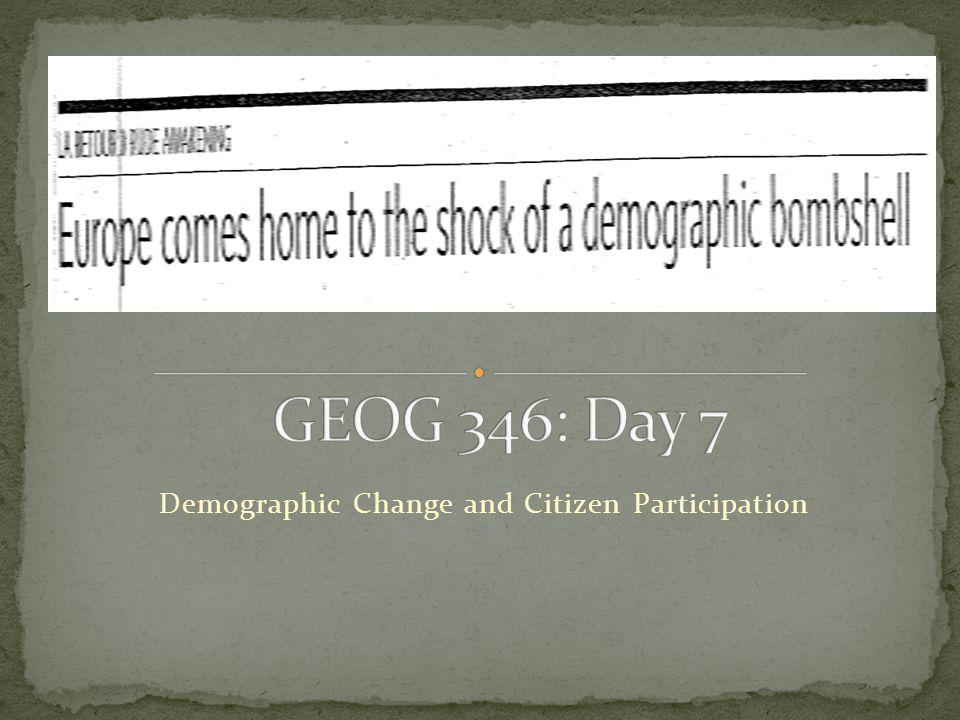 Demographic Change and Citizen Participation