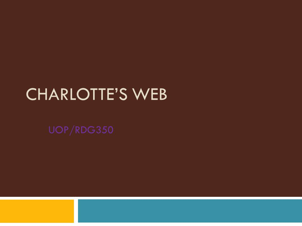 Introduction Charlotte's Web Language Arts Lesson Plan Science Lesson Plan Standards Performance Objectives
