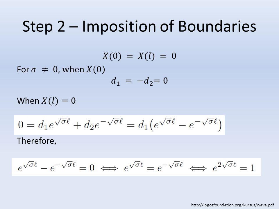 Step 2 – Imposition of Boundaries http://logosfoundation.org/kursus/wave.pdf