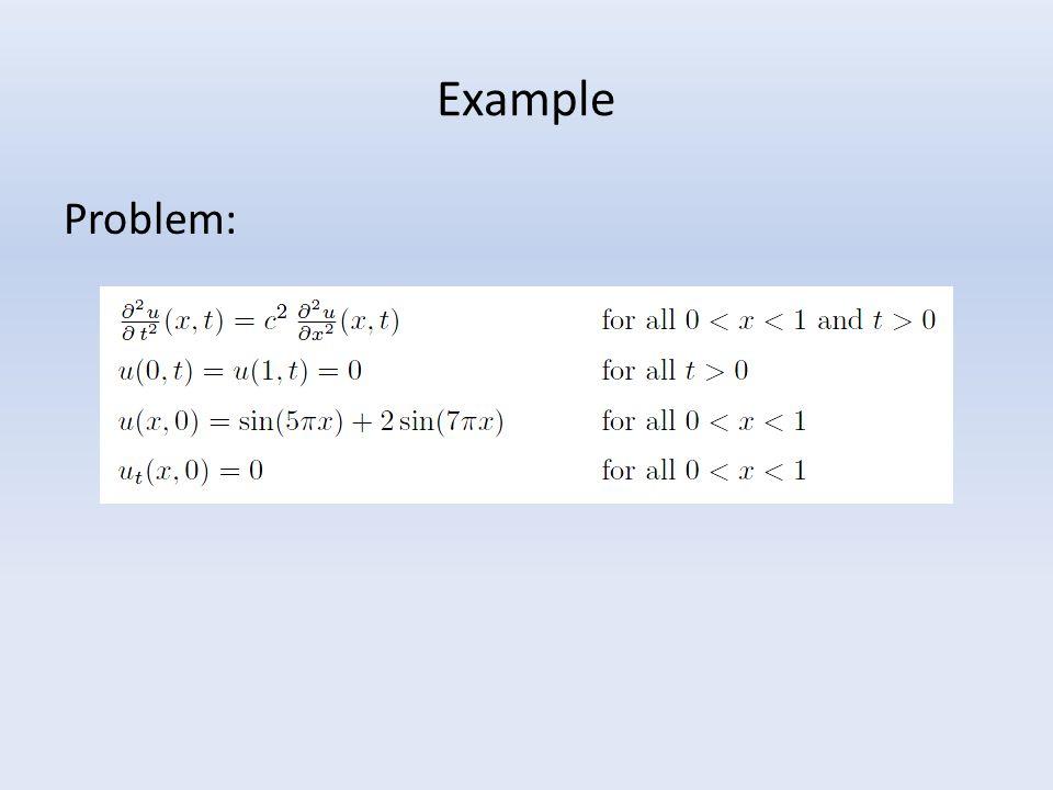 Example Problem: