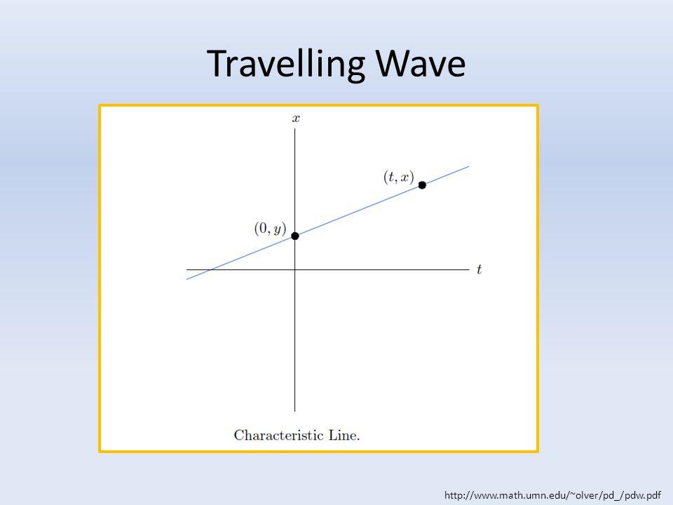 Travelling Wave http://www.math.umn.edu/~olver/pd_/pdw.pdf