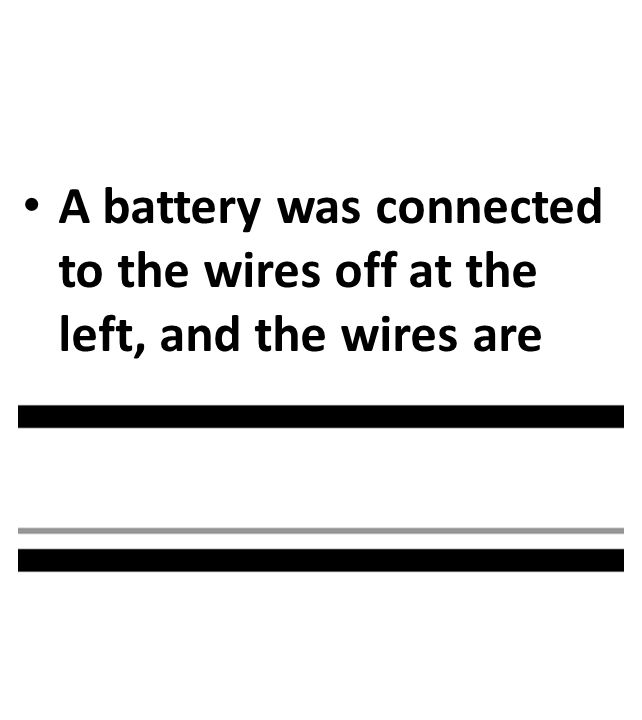 A battery was connected to the wires off at the left, and the wires are infinitely long.