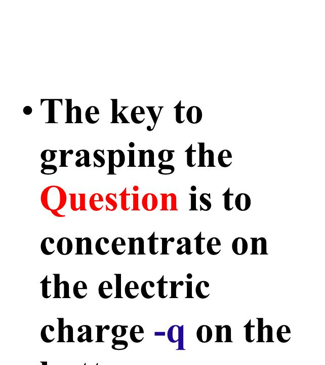 The key to grasping the Question is to concentrate on the electric charge -q on the bottom conductor.