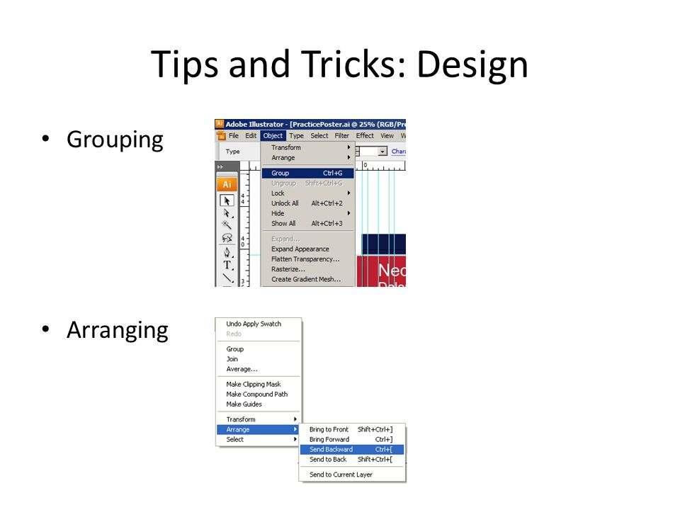 Tips and Tricks: Design Grouping Arranging