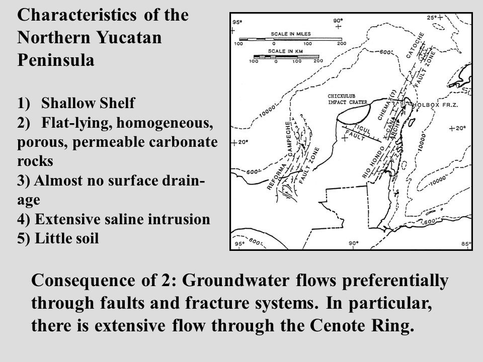 Consequence of 2: Groundwater flows preferentially through faults and fracture systems.