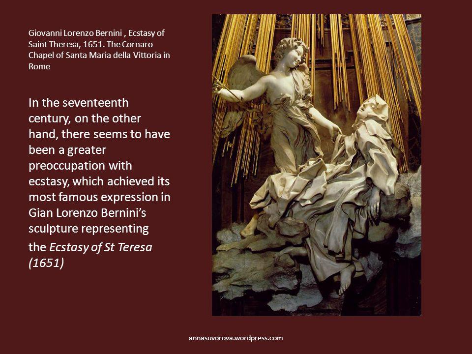 Giovanni Lorenzo Bernini, Ecstasy of Saint Theresa, 1651.