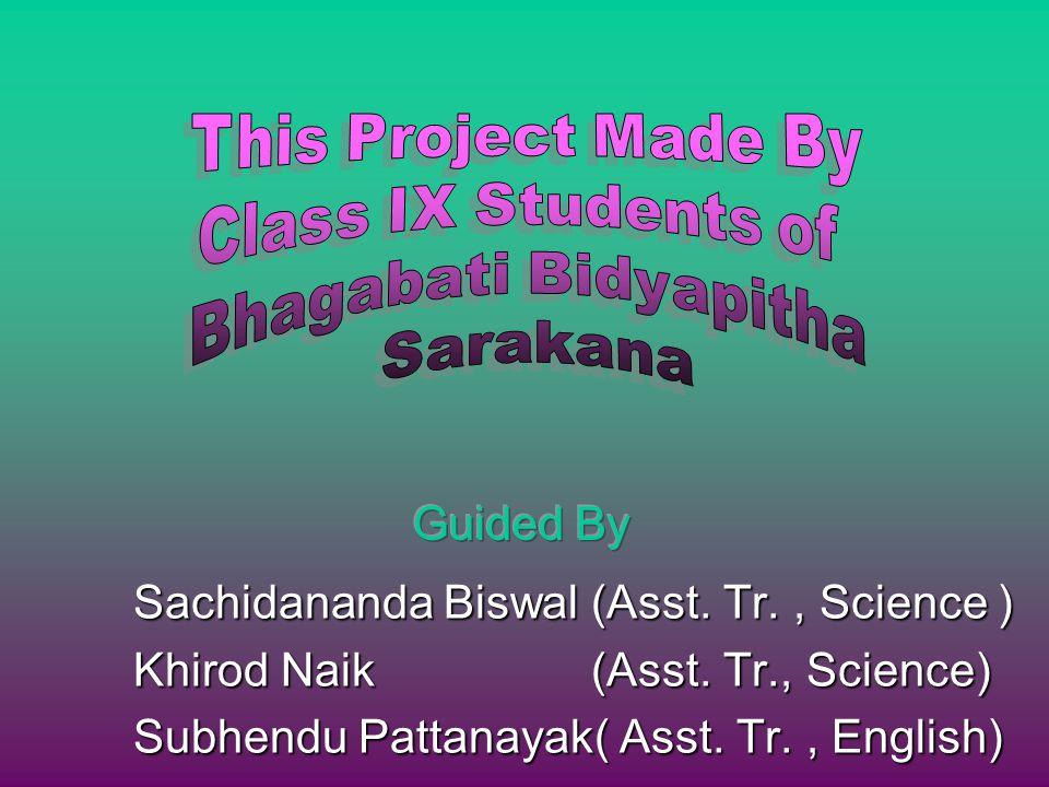 Sachidananda Biswal (Asst. Tr., Science ) Khirod Naik (Asst.
