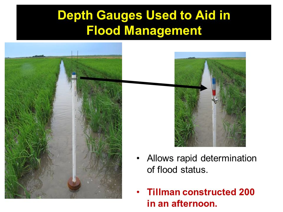 Depth Gauges Used to Aid in Flood Management Allows rapid determination of flood status.
