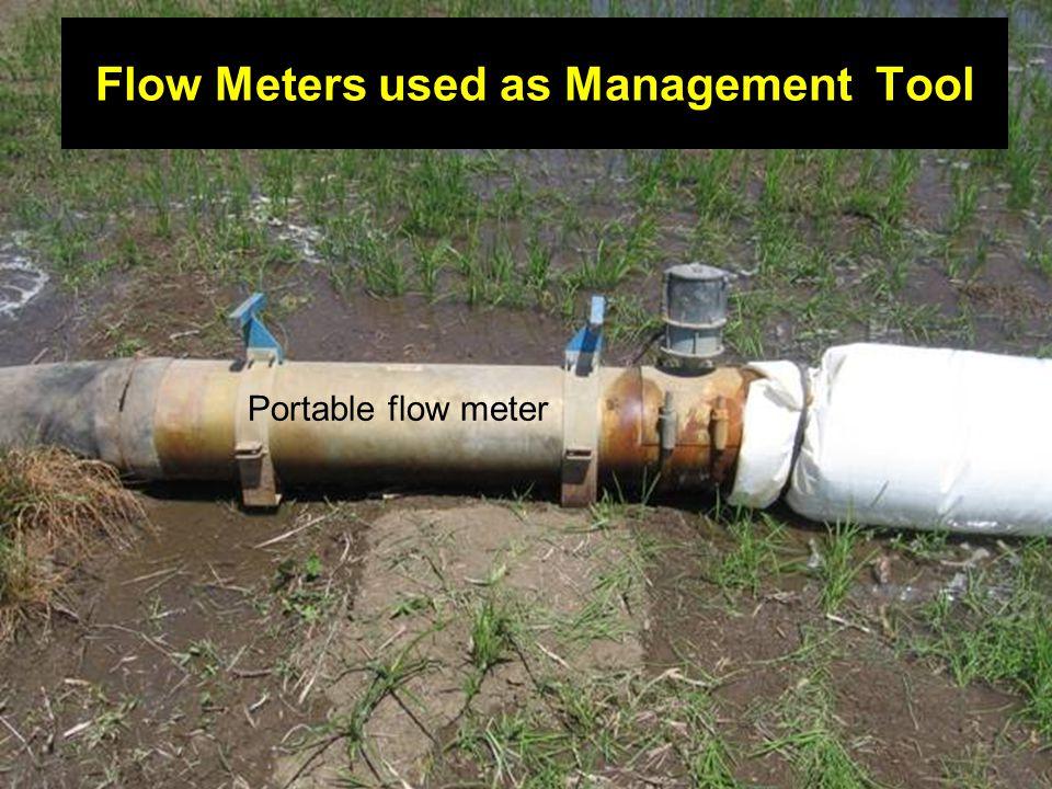 Flow Meters used as Management Tool Portable flow meter