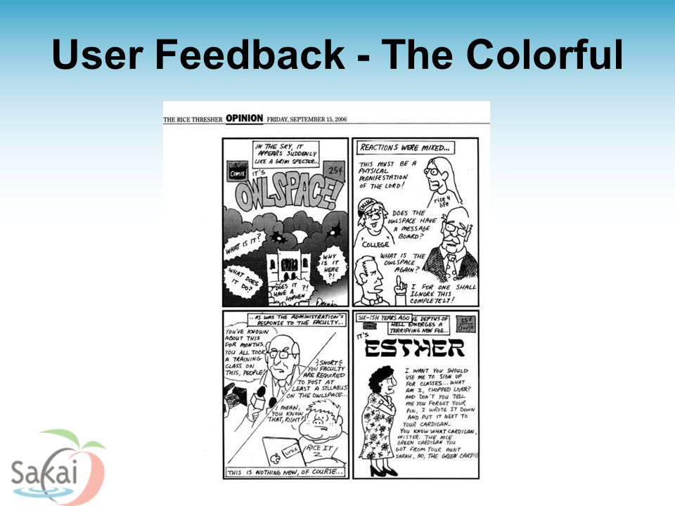 User Feedback - The Colorful
