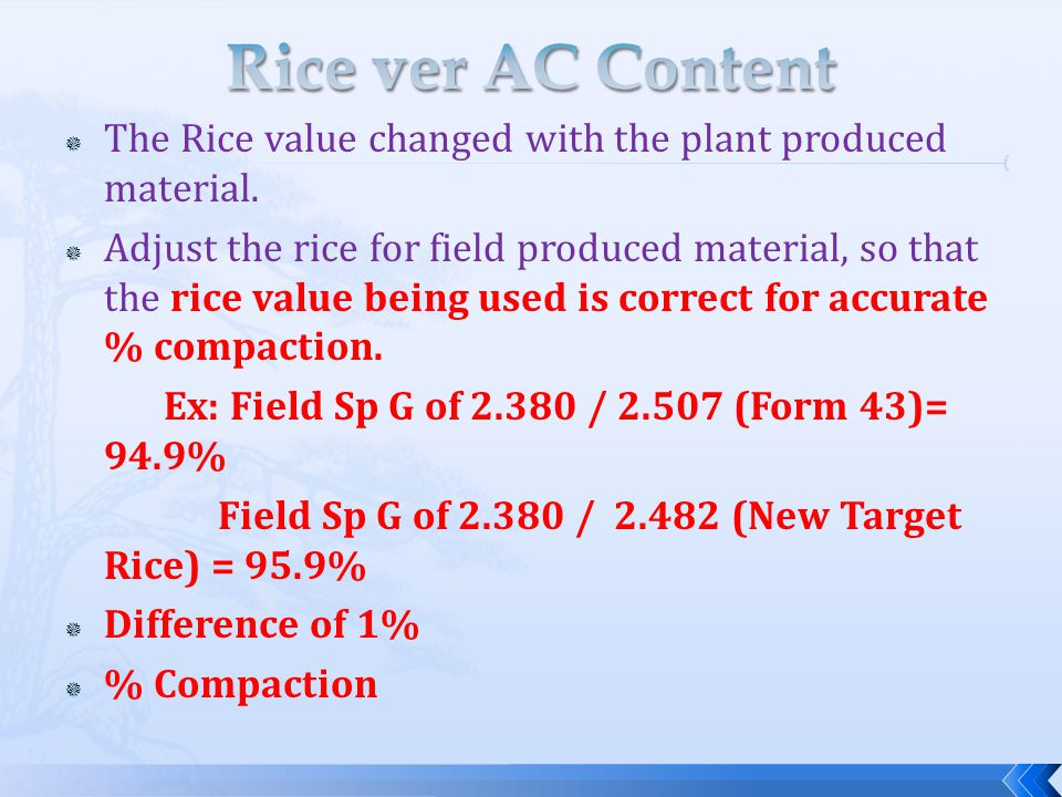  The Rice value changed with the plant produced material.