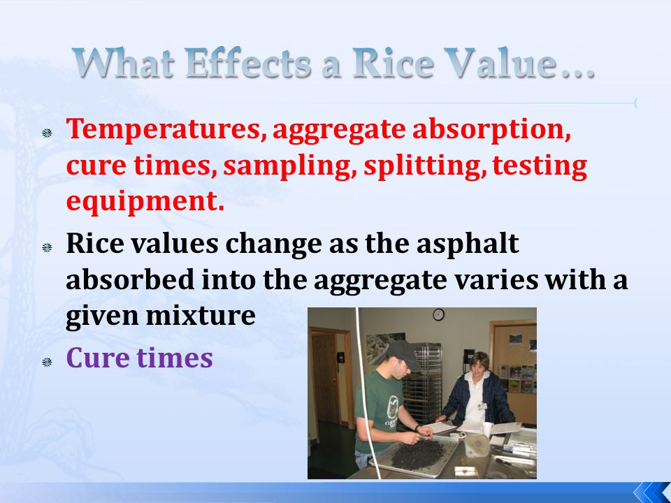  Temperatures, aggregate absorption, cure times, sampling, splitting, testing equipment.
