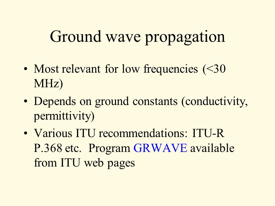 NRAO: TAP model (SoftWright implementation with the Terrain Analysis Package Notes on The Prediction of Tropospheric Radio Transmission Loss Over Irregular Terrain (the Longley-Rice Model) propagation in the Terrain Analysis Package (TAP).