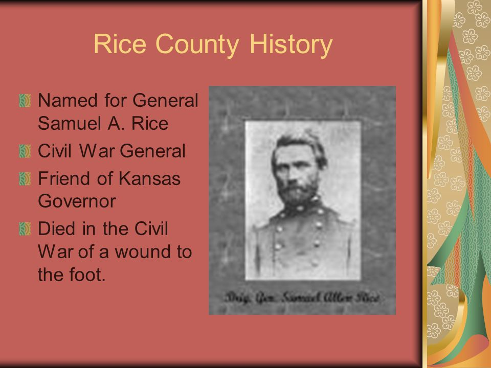 Rice County History Named for General Samuel A.