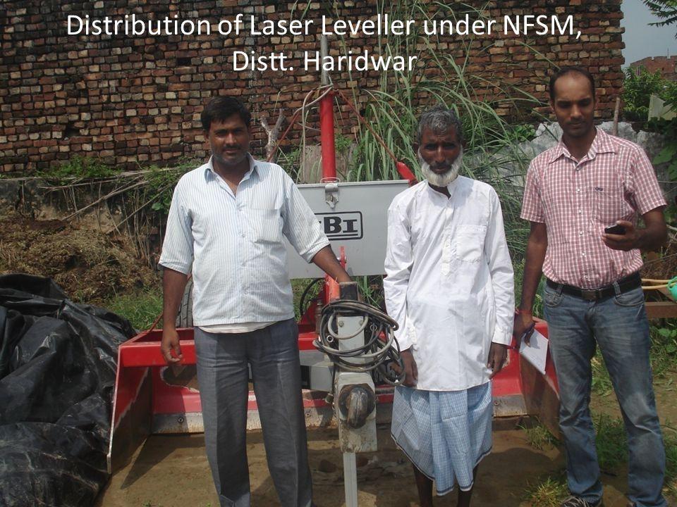 Distribution of Laser Leveller under NFSM, Distt. Haridwar