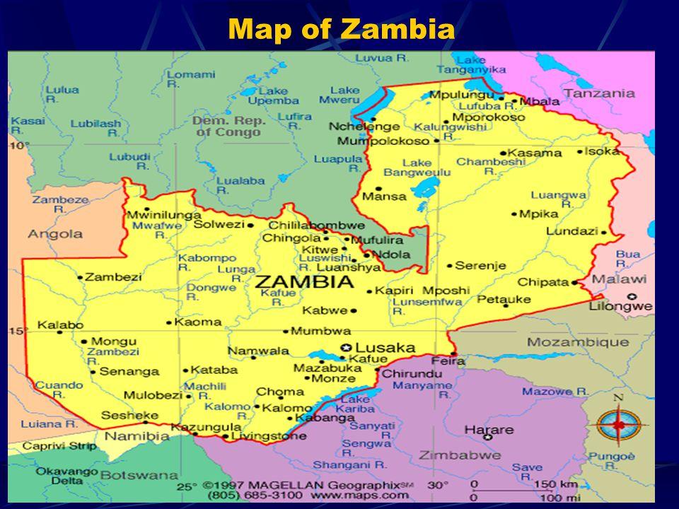 Map of Zambia 8