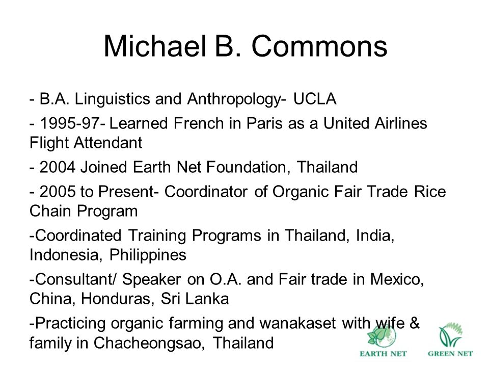 Michael B. Commons - B.A.